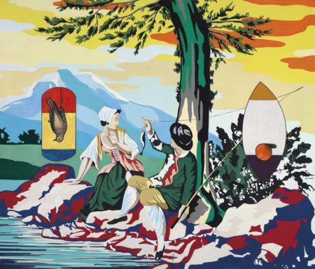 David Salle-Pastoral with Dead Bird-1999