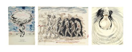 Raymond Pettibon-No Title (Their evolution is); No Title (Halome); No Title (This for the)-2000