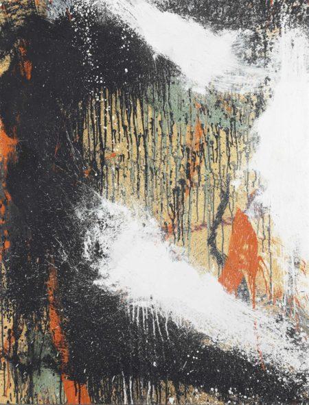 Norman Bluhm-Untitled (orange black and white)-1962