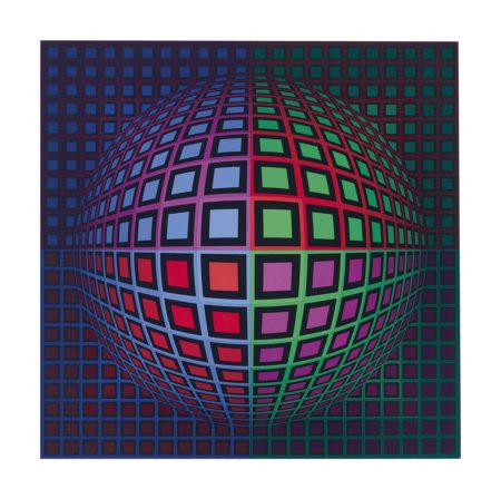 Victor Vasarely-Diuru (P.912)-1976