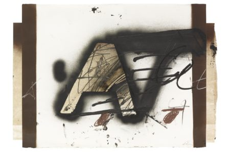 Antoni Tapies-A Retallada (Cut-Out A)-1982