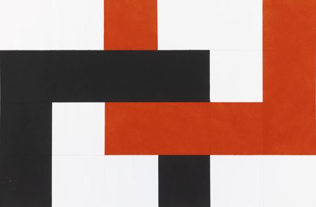 Hermann Glockner-Schwarzrote Verklammerung Nr. 127 (Black Red Interlocking)-1971