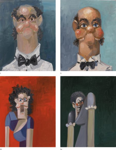 George Condo-Jean Louis;Jean Louis With One Ear; Jean Louis' Wife;Jean Louis' Wife'S Sister [Four Works]-2005
