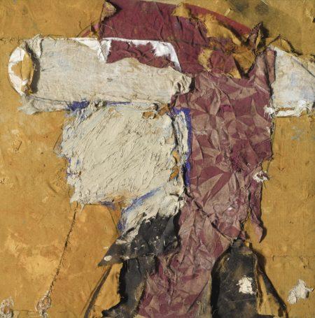 Manolo Valdes-Retrato De Un Joven Con Fondo Amarillo-1995