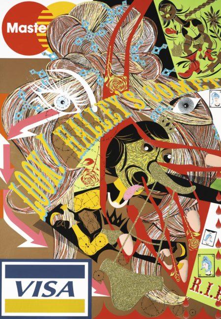 Lari Pittman-Untitled #32 (A Decorated Chronology Of Insistence And Resignation)-1994