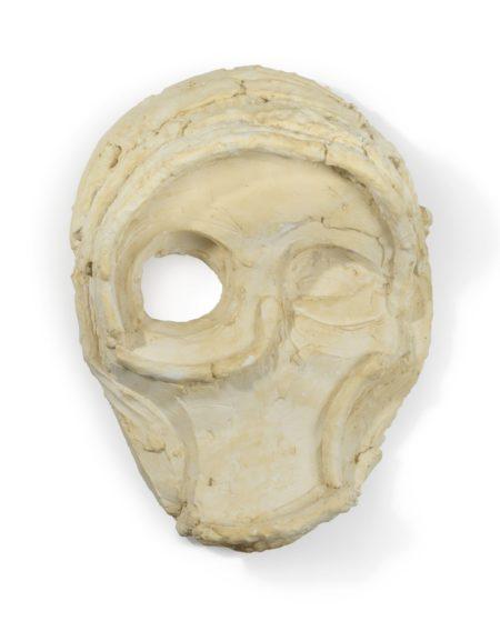 Thomas Houseago-Untitled (Clay Mask)-2010