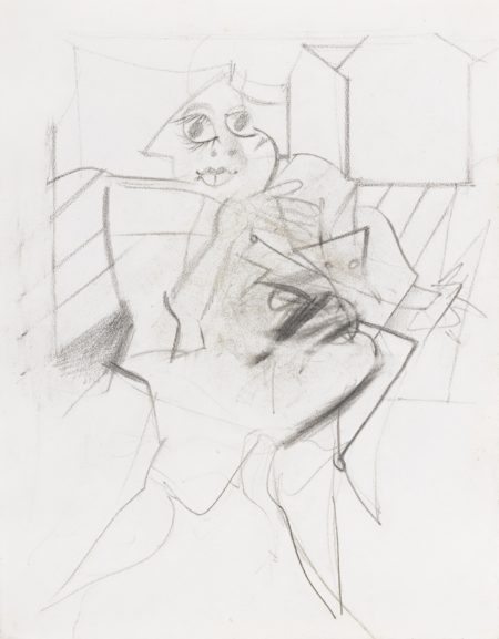 Willem de Kooning-Untitled (Woman)-1950