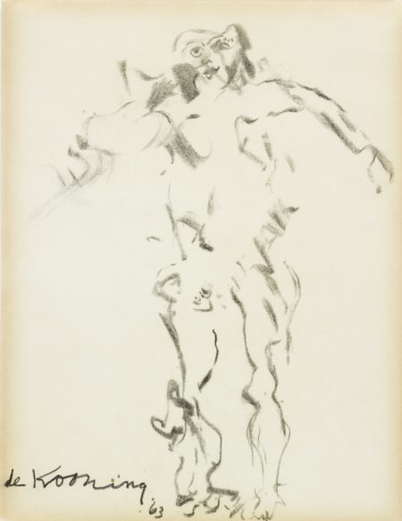 Willem de Kooning-Drawing Of A Woman (Clam Digger)-1963