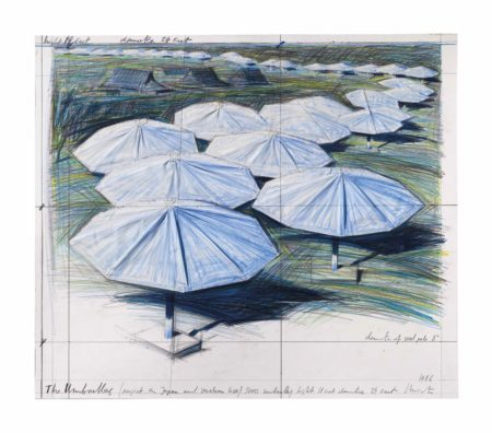 Christo and Jeanne-Claude-The Umbrellas (Project for Japan and Western USA)-1986
