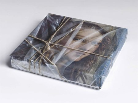 Christo and Jeanne-Claude-Wrapped DVD Case (Detail from Raphael's The School of Athens Fornarina/Margarita Luti)-2015