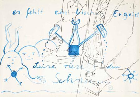 Sigmar Polke-Leise rieselt der Schnee... es fehlt ein bisschen Ehrgeist (Slowly falls the snow... It lacks a little ambition)-1973