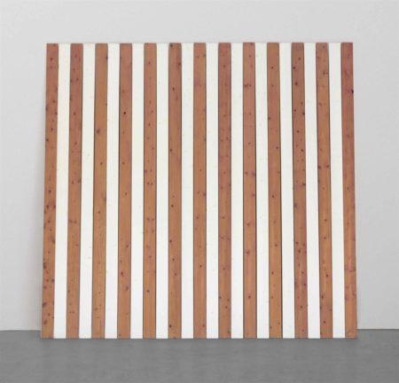 Daniel Buren-Vingt-cinq Lattes novembre 1988 Travail Situé (Twenty-five plinths November 1988 Situated Work)-1988