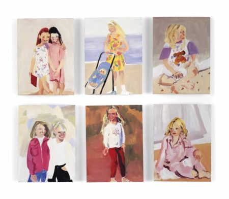 Chantal Joffe-(i) Little Girls 5; (ii) (iv) (v) Untitled; (iii) (vi) Little Girl III-1995