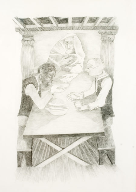 Krishen Khanna-Untitled (Supper at Emmaus)-1998