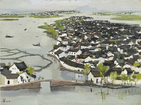 Wu Guanzhong-The Hometown Of Lu Xun-1977