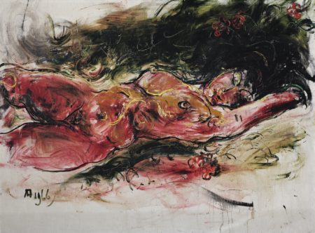 Affandi-Reclining Nude -1966
