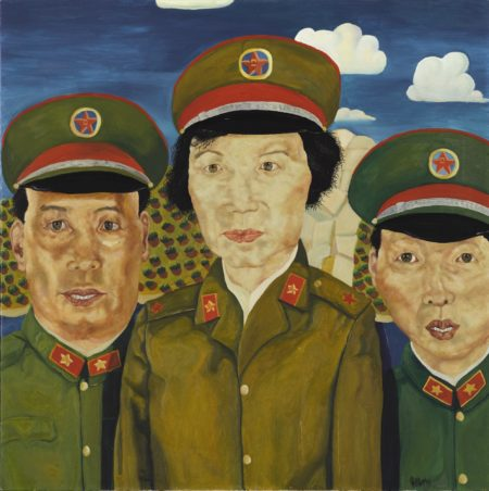 Liu Wei (1965)-Revolutionary Family Series (Three Figures)-1992