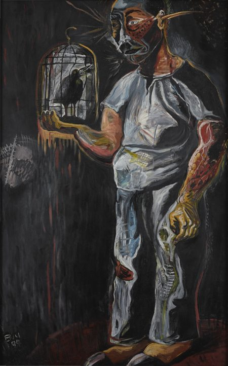 Zhang Enli-Old Man And Bird-1994