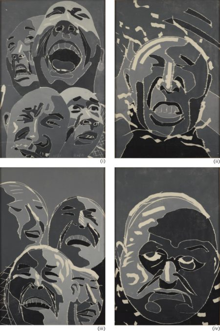 Fang Lijun-Woodblock Print Series (Four Works)-2002