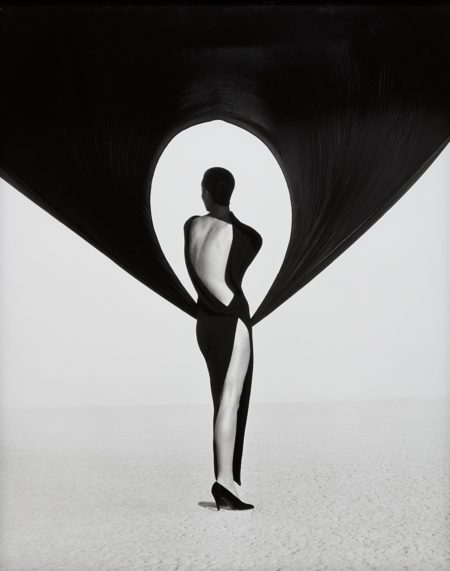 Herb Ritts-Versace Dress, Back View, El Mirage-1990