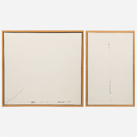 William Radawec-Two Artworks from the 'Crack Up (office above window)' Series-1998