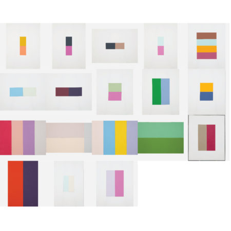 William Radawec-Eighteen Studies for the 'Color Chip' Series-