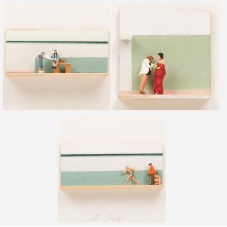 William Radawec-Three Dioramas from 'A Study' Series-