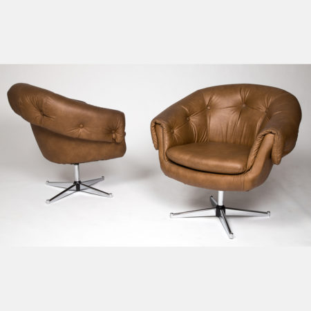 A Pair of Hurstline Egg Lounge Chairs-