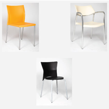 Jorge Pensi, D. Olaf von Bohr - Three Contemporary Plastic Chairs-