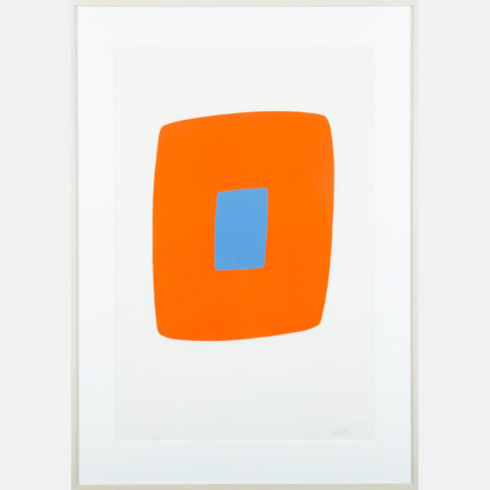 Ellsworth Kelly-Orange with Blue-1965