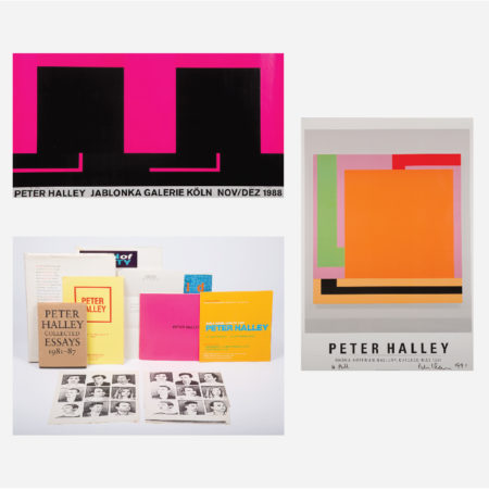 Two Peter Halley Posters-