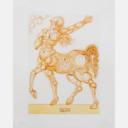 Salvador Dali-CentaurInferno #25Divine Comedy-