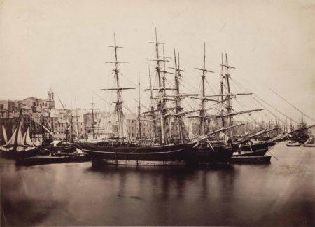 Gustave Le Gray-Groupe de Navires - Cette (Sète), Méditerranée-1857