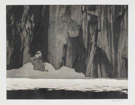 Frozen Lake and Cliffs, Kaweah Gap, Sierra Nevada, California-1932