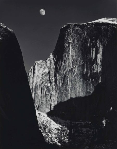 Moon and Half Dome, Yosemite Valley-1960