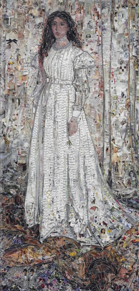 Vik Muniz-Symphony in White No. 1: The White Girl, after James Whistler, from the Pictures of Magazines 2 series-2013