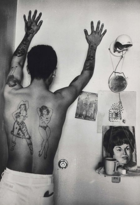 Danny Lyon-Prison Tattoos, the Ramsey Prison, Huntsville, Texas-1968