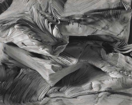 Abelardo Morell-Detail of Book Damaged by Water-2001