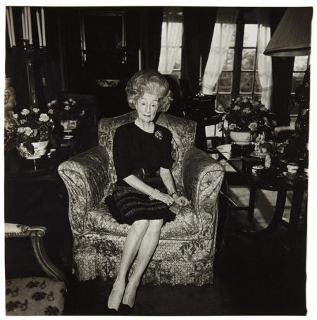 Mrs. T. Charlton Henry On A Floral Easy Chair, Philadelphia, Pa.-1965