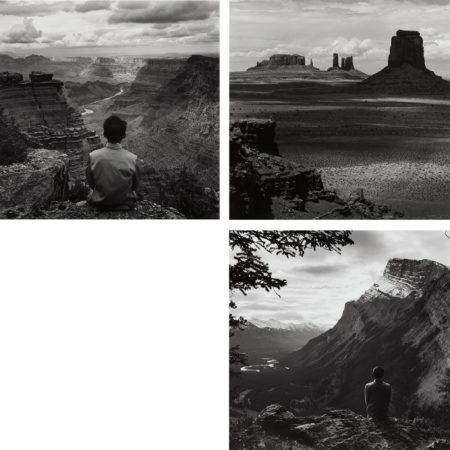 Tseng Kwong Chi-Grand Canyon, Arizona; Monument Valley, Arizona; Banff National Park, Alberta, Canada-1987
