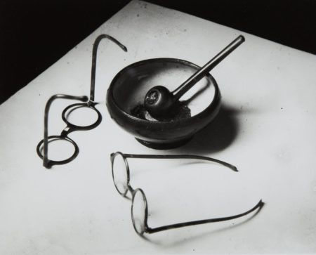 Andre Kertesz-Mondrian's Glasses And Pipe, Paris-1926