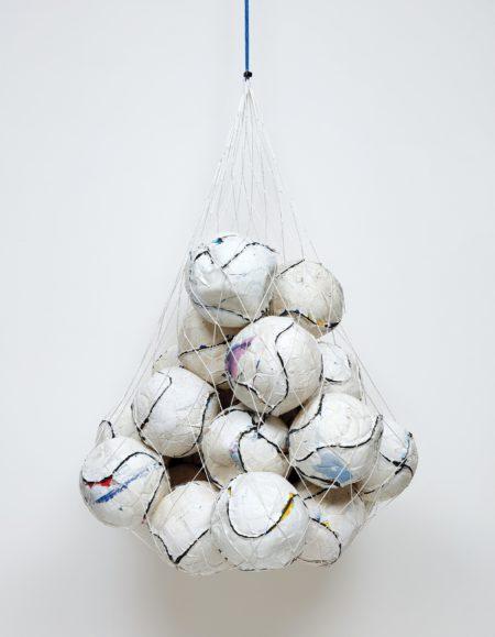 Mark Bradford-Soccer Ball Bag 1-2011