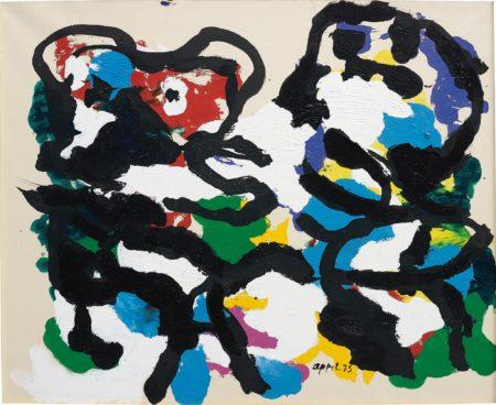 Karel Appel-Black Figures Against White-1975