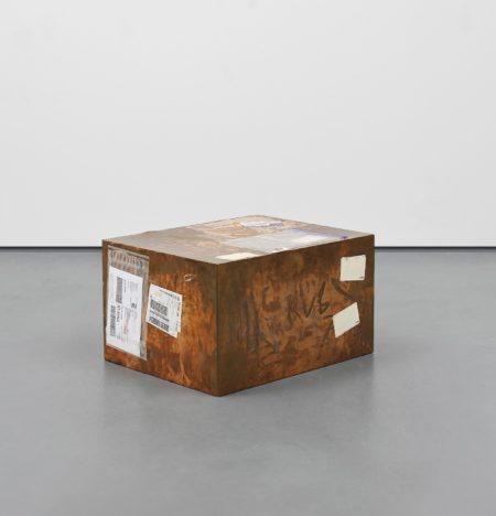 Walead Beshty-Fedex Large Kraft Box 2004 Fedex 155143, #875468976062; Delray Beach Fl-London (Tracking No. 7981 8859 0045)-2011