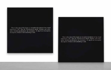 Joseph Kosuth-'No number #12 (After Augustine's Confessions)'-1989