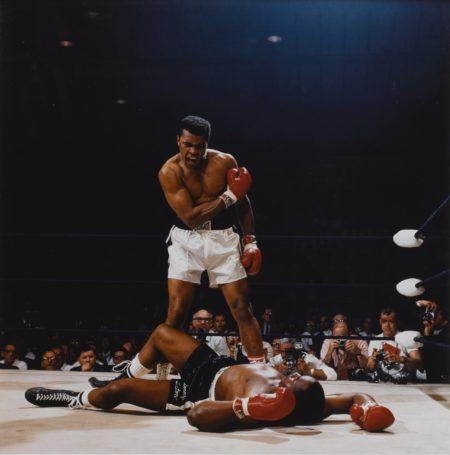 Neil Leifer-Ali-Liston First Round Knockout Lewiston Maine (Muhammad Ali Vs. Sonny Liston)-1965