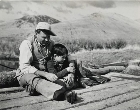 Hemingway And Son Gregory During Hunting Trip In Sun Valley-1941
