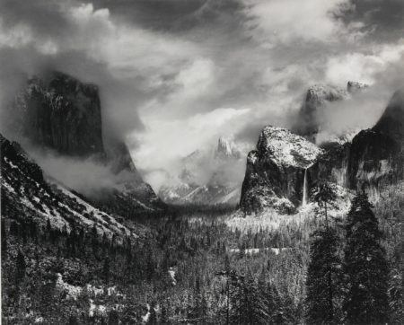 Ansel Adams-Winter Storm Yosemite Valley-1944