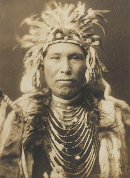 Edward S. Curtis-Portrait Of A Crow Chief-1905