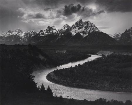 Ansel Adams-Teton Range Snake River-1942